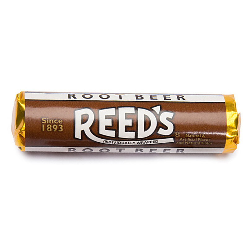 Reed's Root Beer Flavored Hard Candy Roll 1.01oz (29g)
