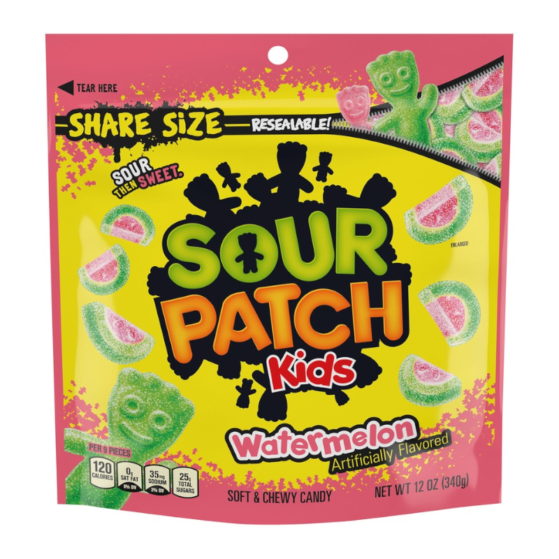 Sour Patch Kids Watermelon Share Size - 12oz (340g)- Large Bag New
