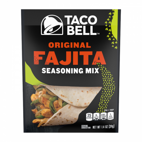 Taco Bell Original Fajita Seasoning Mix 1.4oz (39g) - New