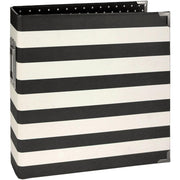 Simple Stories - 6x8 Sn@p! Designer Binder - Black Stripe