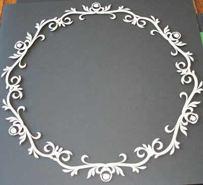 "11"" Rose Flourish Frame"