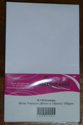 11B White Envelopes