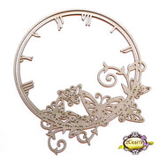 "11"" Butterfly Clock Frame"