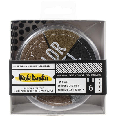 Vicki Boutin Mixed Media Color Wheel Pigment Ink Pads 6/Pkg