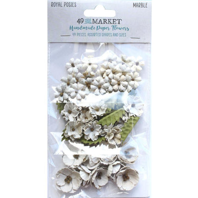 49 And Market Royal Posies Paper Flowers 49/Pkg - Marble