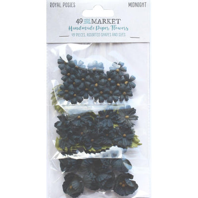 49 And Market Royal Posies Paper Flowers 49/Pkg - Midnight