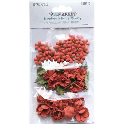 49 And Market Royal Posies Paper Flowers 49/Pkg - Tomato
