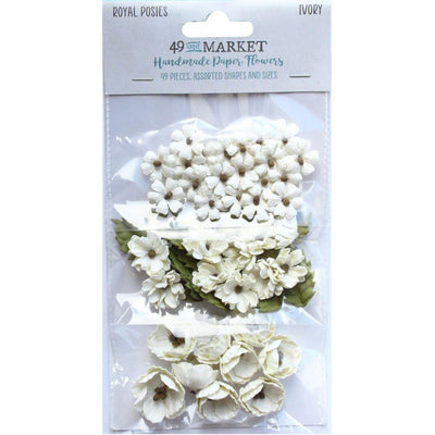 49 And Market Royal Posies Paper Flowers 49/Pkg - Ivory