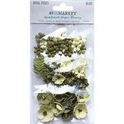 49 And Market Royal Posies Paper Flowers 49/Pkg - Olive