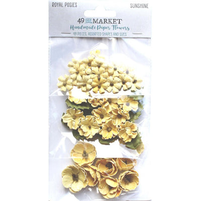 49 And Market Royal Posies Paper Flowers 49/Pkg - Sunshine