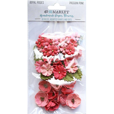 49 And Market Royal Posies Paper Flowers 49/Pkg - Passion Pink