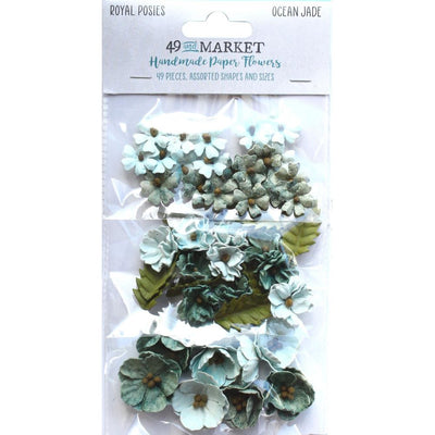 49 And Market Royal Posies Paper Flowers 49/Pkg - Ocean Jade