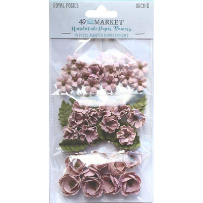 49 And Market Royal Posies Paper Flowers 49/Pkg - Orchid