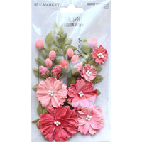 49 And Market Royal Spray Paper Flowers 15/Pkg - Passion Pink