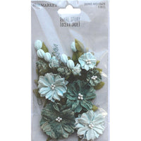 49 And Market Royal Spray Paper Flowers 15/Pkg - Ocean Jade