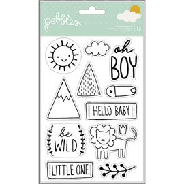 Pebbles - Peek-a-Boo Boy Paper - Jungle Strips
