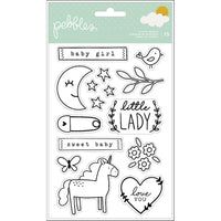 Pebbles - Peek-a-Boo Girl Acrylic Stamps - 15/Pkg