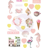 Prima - Golden Coast Puffy Stickers 24/Pkg