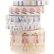 Prima - Golden Coast Chipboard Decorative Tape 4/Pkg