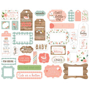 Echo Park - Baby Girl Frames & Tags Ephemera Pack