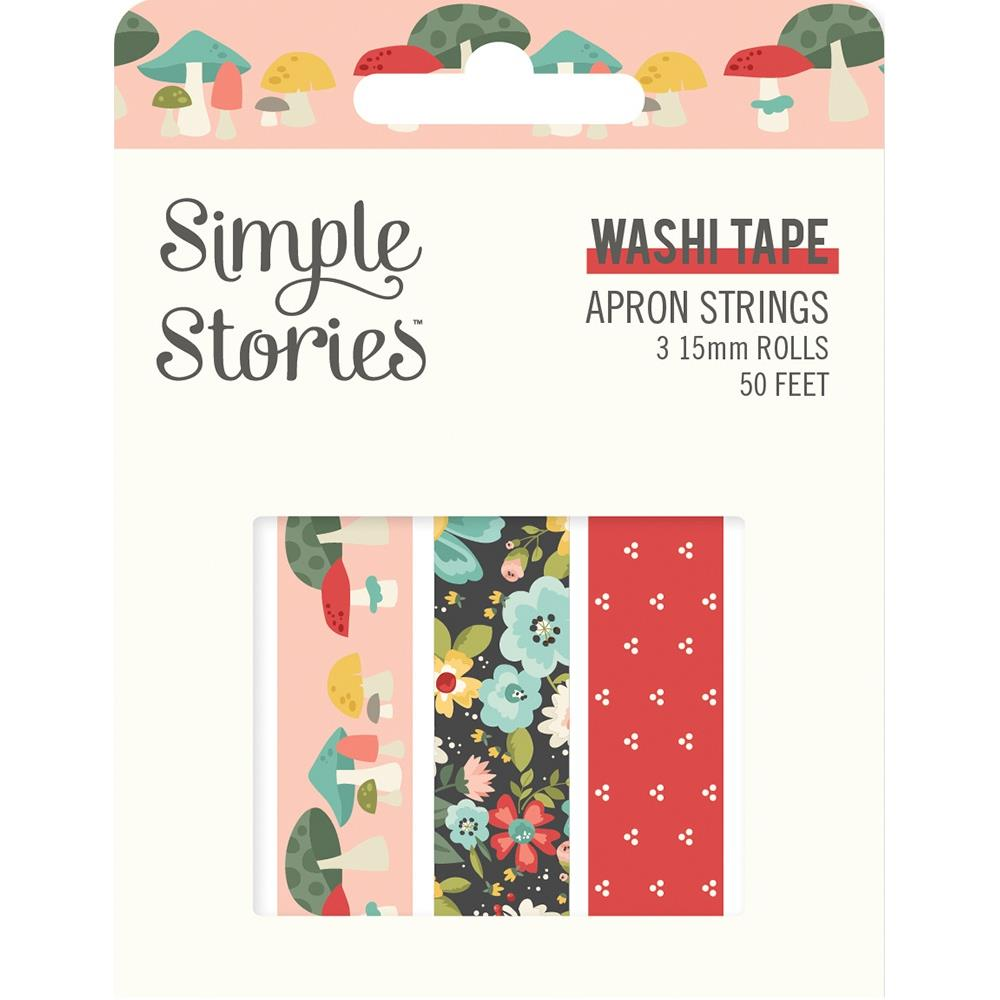 Simple Stories - Apron Strings Washi Tape - 3 Rolls