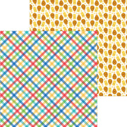 Doodlebug - Bar-b-cute Paper - Primary Plaid