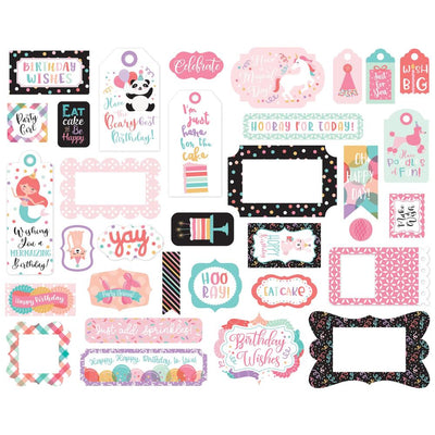 Echo Park - It's Your Birthday Girl Frames & Tags Pack