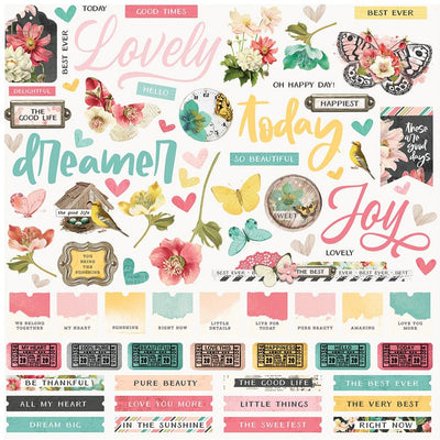 Simple Stories -  Simple Vintage Cottage Fields Combo Sticker Sheet