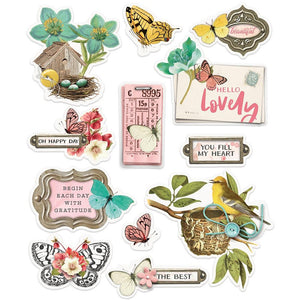 Simple Stories -  Simple Vintage Cottage Fields Layered Stickers