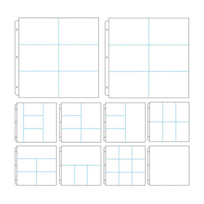 Couture Creations - Album Refills - Assorted Dividers 12x12 (10pc - No Paper Insert)