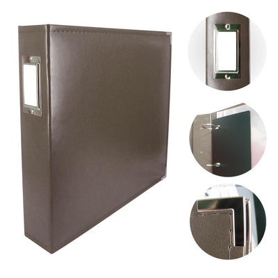 Couture Creations 12x12 Classic Superior Leather Album - Dark Brown