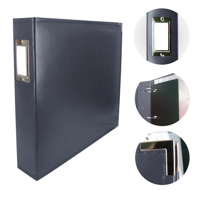 Couture Creations 12x12 Classic Superior Leather Album - Dark Blue