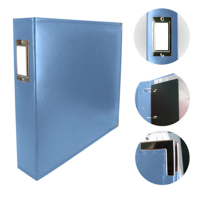 Couture Creations 12x12 Classic Superior Leather Album - Country Blue