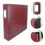 Couture Creations 12x12 Classic Superior Leather Album - Wine Red