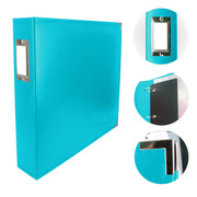 Couture Creations 12x12 Classic Superior Leather Album - Aqua Blue