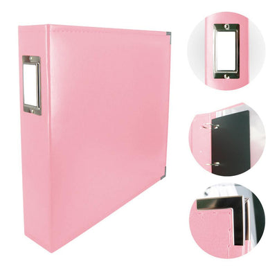 Couture Creations 12x12 Classic Superior Leather Album - Baby Pink