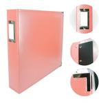 Couture Creations 12x12 Classic Superior Leather Album - Coral Pink