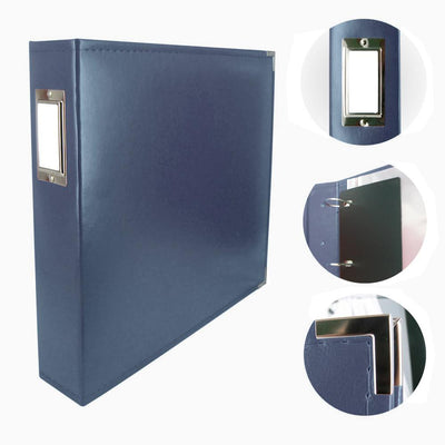 Couture Creations 12x12 Classic Superior Leather Album - Cobalt Blue