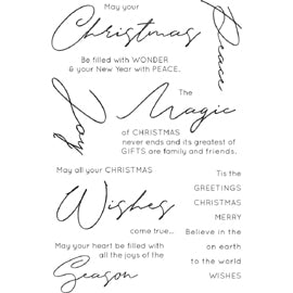 Kaisercraft - Christmas Wishes Clear Stamps