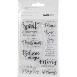 Kaisercraft - Clear Stamps - Mix & Match Sentiments