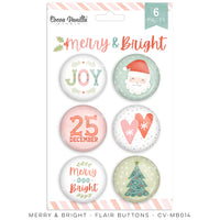Cocoa Vanilla - Merry & Bright Flair Buttons