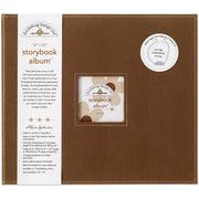 "Doodlebug Storybook D-Ring Album 12""X12"" - Bon Bon Brown"