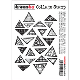 Darkroom Door - Collage Stamp - Arty Triangles