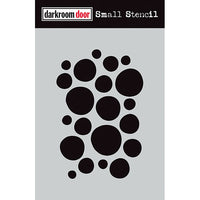 Darkroom Door - Small Stencil - Arty Circles