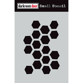 Darkroom Door - Small Stencil - Arty Hexagons