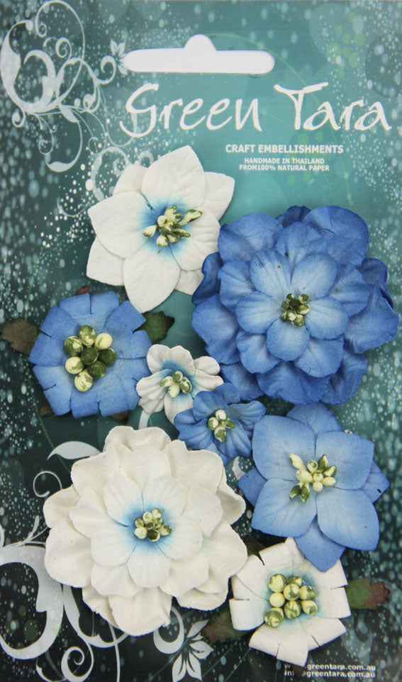Green Tara - Fantasy Bloom Flower Pack - Bright Blue