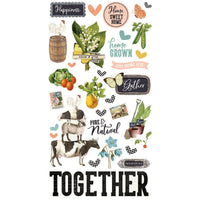 Simple Stories -  Simple Vintage Farmhouse Garden Chipboard Stickers