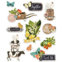 Simple Stories -  Simple Vintage Farmhouse Garden Layered Stickers