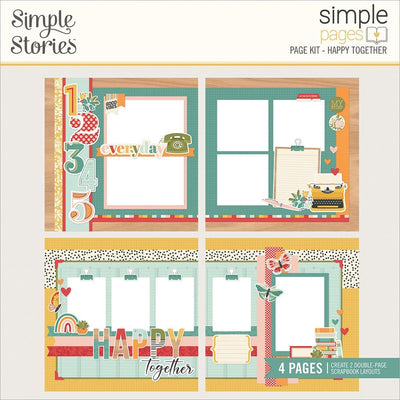 Simple Stories -  Simple Pages Page Kit - Happy Together