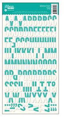 Jillibean Soup - Alphabean Stickers - Teal Grid